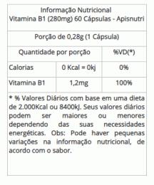 Vitamina B1 - 280mg (60 caps)